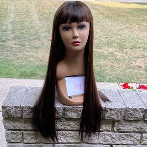 NEW woman's long straight silky wig